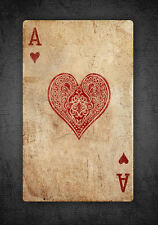 Magnet - Vintage Ace of Hearts Playing Card (Picture Poker Texas Holdem Art)