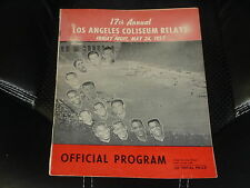 1957 LOS ANGELES COLISEUM RELAYS TRACK AND FIELD PROGRAM RAFER JOHNSON