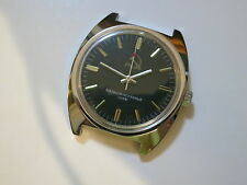 New ! Vintage Black Russian CCCP Military Manual Wind 17 jewels Watch