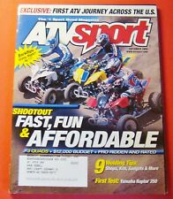 ATV SPORT MAGAZINE SEPT/2004..FIRST TEST: YAMAHA RAPTOR 350..9 WELDING TIPS