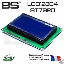 LCD 128x64 white on blue ks0108 12864 LCD RAMPS  ecran lcd afficheur