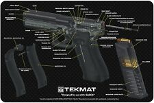 "GLOCK 17 PISTOL CUT AWAY ARMOURER GUN CLEANING NEOPRENE BENCH MAT 11x17"" TEKMAT"