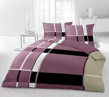 TOP Übergröße Bettwäsche 200x200 cm 3 tlg Microfaser schwarz weiss rosa lila