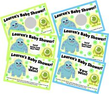 BABY MONSTERS INC PERSONLIZED SCRATCH OFF OFFS PARTY CARDS BABY SHOWER FAVORS