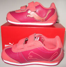 NIB Girls Kids PUMA Speeder Illuminesc Cerise/Dubarry Athletic Shoes Size 6