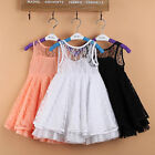 Girl Kids Baby Toddler Lace See-through Tutu Skirt Party Dress Clothes Outfit