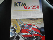 CLIPPING PUBBLICITA' ADVERTISING KTM GS 250 - ANNI 70/80