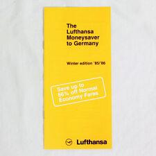 Lufthansa Della Compagnia Aerea Pubblicità Brochure Moneysaver To Germania