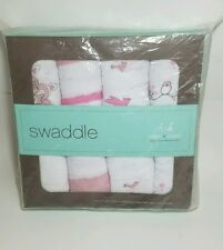 Aden + anais Classic Muslin Swaddle Blanket For The Birds, 4 Count New