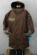 New 2017 Neff Mens Parker Snowboard Jacket Large Brown