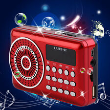 Portable Rechargeable LED Display Radio FM Radio Speaker TF Card Music Player SM