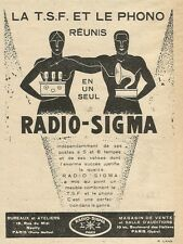 W0745 RADIO SIGMA - la T.S.F. et le phono - Pubblicità 1929 - Advertising