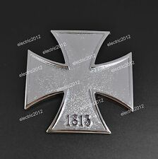 Car Rear Side 3D Silver Metal Decal Sticker Nazi Cross Badge Car Logo Emblem