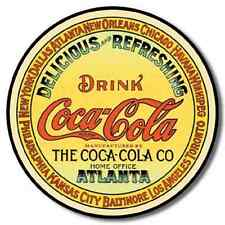COCA COLA ~ Old Style ~ Vintage Metal Advertising Wall Art Sign ~by PLD