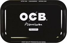 Medium OCB Black Metal Cigarette Rolling Tray