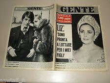 GENTE 1966/49=LIZ TAYLOR=TWIGGY=TONY NANCY DRAGSTER=ISCHIAZZA TRENTO=GINO CERVI=