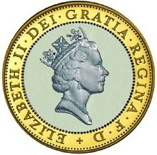 1997 £2 QUEEN WITH NECKLACE NECKLESS TWO POUND COIN RARE COIN HUNT 01/32 2 xx