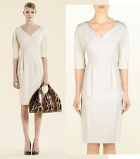 EXQUISITE GUCCI WHITE STRETCH WHOOL DRESS SWEETHEART NECKLINE sz 44
