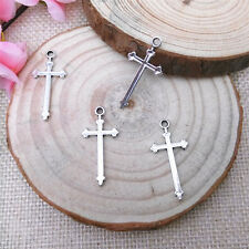 Wholesale 12pcs Tibet Silver Cross Charm Pendant Beaded Jewelry AA120