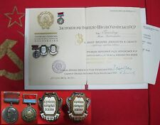 Medal MAKARENKO badges Excellence in Public Education Soviet Union USSR doc1957