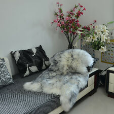 Luxury Soft Faux Sheepskin Natural Long Wool Fur Rug Carpet Mat Bedroom sofa