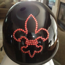 Bling Motorcycle Helmet made with Swarovski® Crystal Design-Black-VH42*