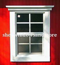 Small Shed Windows 14X21 #SW1421WF-2, Lot of 2 windows, Deer Stand Window, New