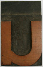 WOODEN LETTER for VINTAGE LETTERPRESS 33 mm lower case 'u'