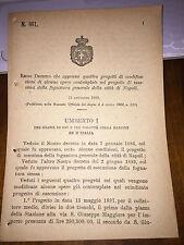 REGIO DECRETO APPROVA 4 PROGETTI MODIFICAZ FOGNATURA GENERALE CITTà DI NAPOLI