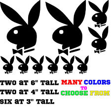 Play boy Bunny 10 Pack auto/window/Wall, Decal Graphic sticker