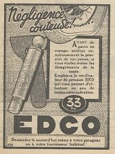 Z9118 EDCO vérificateur de pression -  Pubblicità d'epoca - 1928 Old advertising