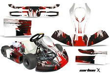 AMR Racing JR CRG Cadet Bambino Kart Graphic Decal Sticker Wrap Kit CARBON X RED