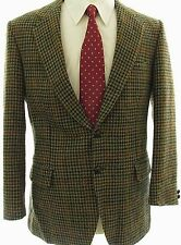 Donegal Tweed Vtg Wool Two Button Sport Coat 38S Blazer Jacket Made in Ireland