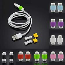 10pcs Protector Saver Cover for Apple iPhone Lightning USB Charger Cable Cord