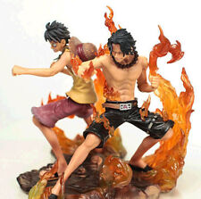 New Anime One Piece 2 Years Later Luffy VS Ace PVC Action Figure Toy gifts 2pcs
