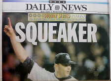 2000 YANKEES METS WORLD SUBWAY SERIES OCTOBER 23 NY DAILY NEWS CLEMENS PIAZZA