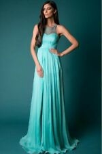 Women Long Chiffon Formal Lace Party Cocktail Evening Prom Wedding maxi Dress 6