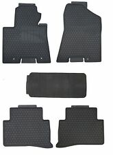 Black Rubber All Weather Floor Mats for 2016 Up Hyundai Tucson Custom Fitment