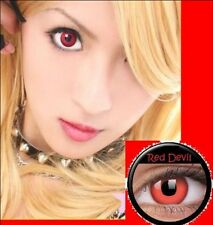 Crazy Red Witch Lenses Lentilles Kontaktlinsen Cosplay Party Halloween lens Safe