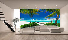 Hammock Between Palm Trees Wallpaper GIANT WALL DECOR PAPER POSTER