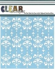 """Clear Scraps 6"""" Stencil """"Damask"""" for airbrush, decorative tole painting"""