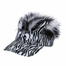 FLAIR HAIR HATS WITH HAIR KID SIZE ZEBRA VISOR TOP QUALITY PARTY FUN KIDS WIG