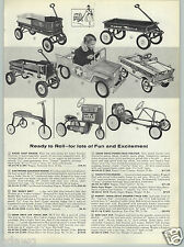 1961 PAPER AD Murray Pedal Speedway Pace Car Power Trac Tractor Coaster Wagon