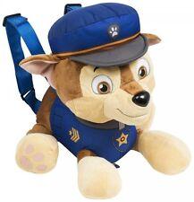 Paw Patrol 'Chase' Plush School Bag Rucksack Backpack Brand New Gift