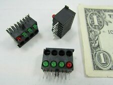 Lot 10 Mounted LED Light Bars 1 Red 3 Green Megery Circuit Board Through Hole