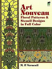Dover Pictorial Archive: Art Nouveau Floral Patterns and Stencil Designs in...