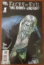 Faces Of Evil: Solomon Grundy (2009) #1 - Signed By Scott Kolins - DC Comics