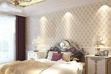 Beige 3D Faux Leather Pattern Designer Wallpaper Mural Wall Paper Decor Rolls