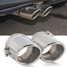 New 2x Stainless Steel Muffler Exhaust Tail Pipe Tip For VW Passat B6 CC EOS