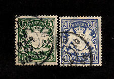 Bavaria - 1876-1878 - SC 39 & 42 - Used - Coat of Arms